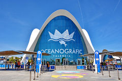 Valencia Oceanographic. Modern building in Spain Stock Photo