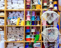 Valencia old haberdashery in Plaza Redonda at Spain Royalty Free Stock Images