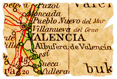 Valencia old map Royalty Free Stock Images