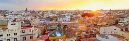 Valencia Old Town panorama. Spain Royalty Free Stock Photos