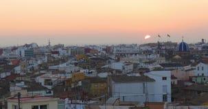 Valencia old town panorama torres de serranos 4k spain. Spain valencia old town panorama torres de serranos 4k stock video