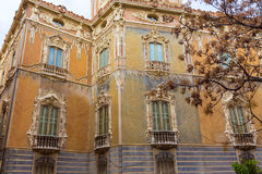 Valencia Palacio Marques de Dos Aguas palace. Facade in alabaster at Spain Stock Images