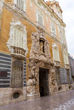 Valencia Palacio Marques de Dos Aguas palace. Facade in alabaster at Spain Stock Photography
