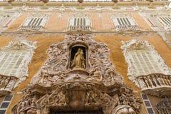 Valencia Palacio Marques de Dos Aguas palace stock photography