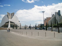 Valencia Palau de les Arts Reina Sofía Stock Image