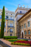 Valencia Palau Generalitat in Manises square Spain Royalty Free Stock Images