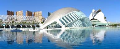 Valencia, panorama moderno de la arquitectura fotos de archivo libres de regalías