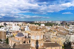 Valencia panoramic view of the urban landscape, Spain Royalty Free Stock Images