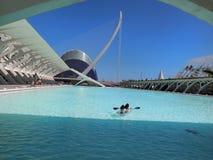 Valencia, parte moderna della città fotografia stock libera da diritti