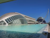 Valencia, parte moderna della città immagini stock