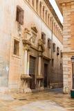 Valencia Patriarca museum i den Calle Nave gatan Spanien Arkivbild