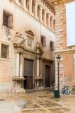 Valencia Patriarca museum i den Calle Nave gatan Spanien Royaltyfri Fotografi