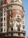Valencia Pintor Sorolla and Juan de Austria streets. Meeting building in Spain Stock Photography
