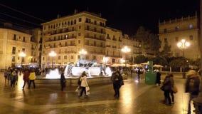Valencia-Plaza de la Virgen -Spain royalty free stock images