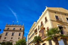 Valencia Plaza de la Virgen square and Palau Generalitat Stock Image