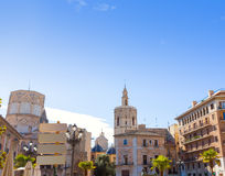 Valencia Plaza de la Virgen square Spain Stock Photo