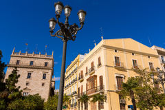Valencia Plaza de la Virgen square Spain Stock Photos