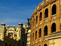 Valencia, Plaza de Toros. The Plaza de Toros & Estacion del Norte in Valencia, Spain Stock Photo