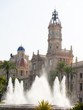 Valencia Plaza del ayuntamiento city town hall square Royalty Free Stock Photography