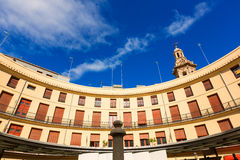 Valencia Plaza Redonda is a round square in Spain Royalty Free Stock Photography