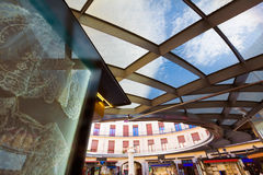 Valencia Plaza Redonda is a round square in Spain Stock Photos