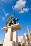 Valencia Pont del Regne reino bridge guardian gargoyles Stock Images