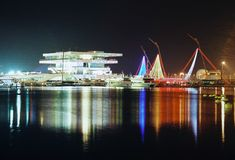 Valencia Port, America's Cup sedate Stock Images