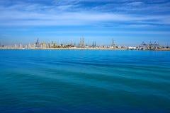 Valencia port and marina view from Pinedo Stock Photos