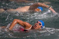 Valencia Port Swim Royalty Free Stock Photos