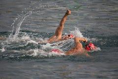 Valencia Port Swim Royalty Free Stock Images