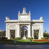 Valencia, Porta de la Mar arch Royalty Free Stock Photo