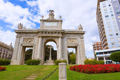 Valencia Porta Puerta del mar door square Spain Stock Photos