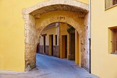 Valencia Portal de Valldigna arch barrio del Carmen. Valencia Portal de Valldigna arch in barrio del Carmen at Spain Royalty Free Stock Photography