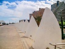 Valencia-Promenadendekoration calatrava Stockfotografie