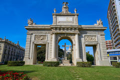 Valencia Puerta porta de la Mar door square Royalty Free Stock Photo