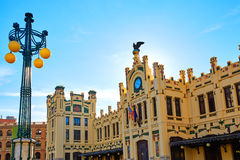 Valencia railway North station facade Spain Royalty Free Stock Photos