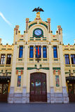 Valencia railway North station facade Spain Stock Photo