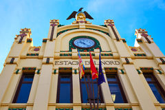 Valencia railway North station facade Spain Royalty Free Stock Image