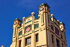 Valencia railway North station facade Spain Royalty Free Stock Images