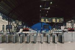 Valencia. Railway station evening shot for gates Royalty Free Stock Image