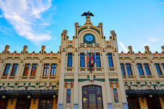 Valencia railway station facade North Estacio Royalty Free Stock Photos