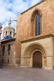 Valencia romanesque palau deur van kathedraal spanje stock foto