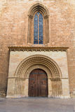 Valencia Romanesque Palau door of Cathedral Stock Image