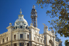 Valencia, roof of Post Office Royalty Free Stock Photography
