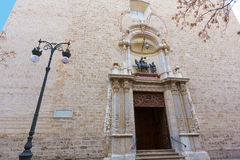 Valencia San Martin church facade of Spain Royalty Free Stock Images