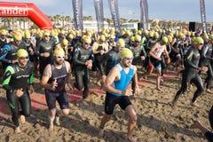 Valencia Santander Triathlon Stock Image
