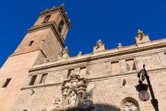 Valencia Santos Juanes church facade Spain Stock Image