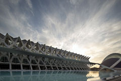 Valencia science centre. The city of science and arts, La Ciudad de las Artes y de las Ciencias in valencia Royalty Free Stock Photo