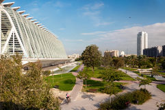 Valencia - science museum. City of Arts - Science Museum - Valencia - Spain Stock Photo