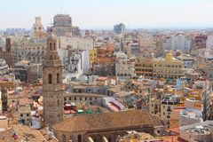 Valencia Skyline from Cathedral Tower Stock Images